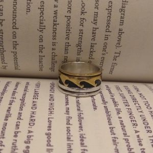 Tommy Singer Native American gold sterling ring